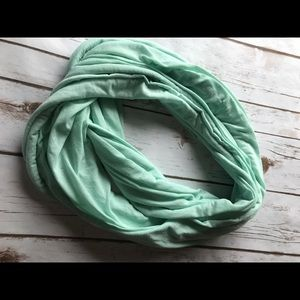 Infinity light weight teal scarf